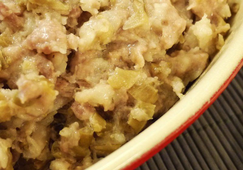 梅菜蒸肉餅