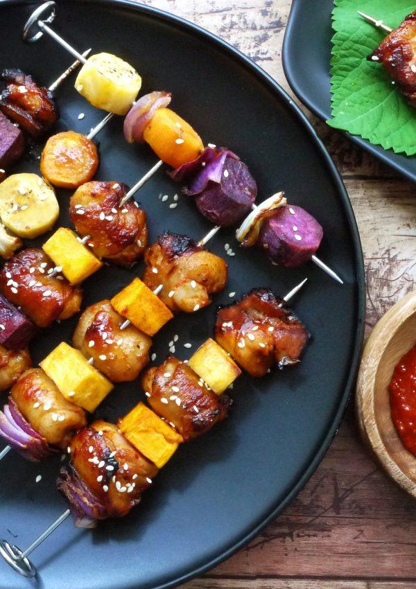 韓式辣雞地瓜烤串