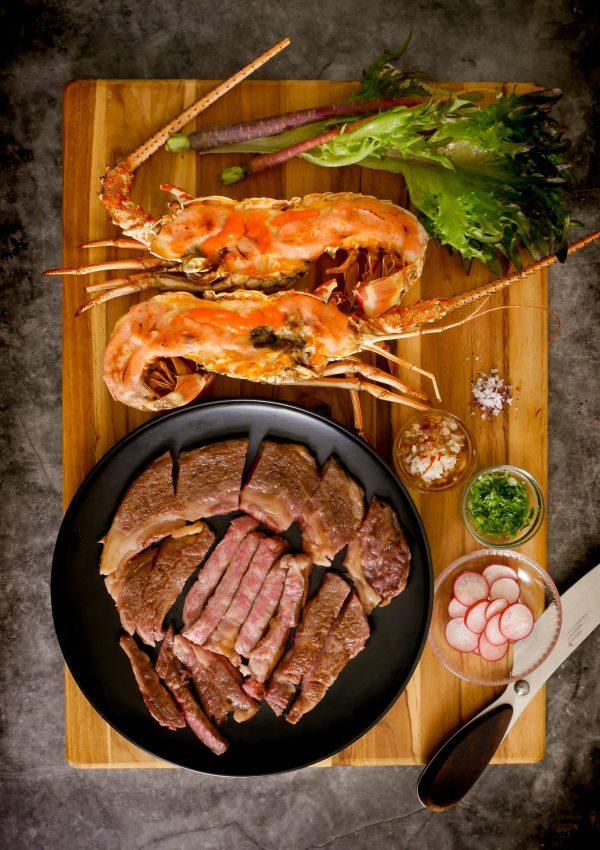 艾肉客~A5山形和牛肋眼牛排 澳洲活凍龍蝦 海陸大餐